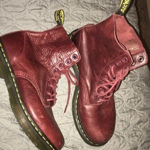 Dr. Martens red burgundy boots size 8